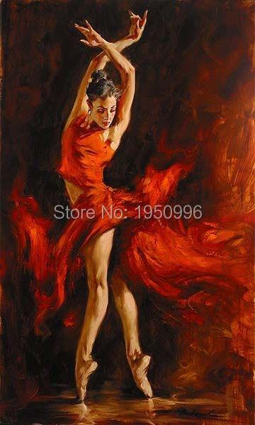 Dancing Girl Painting Oil