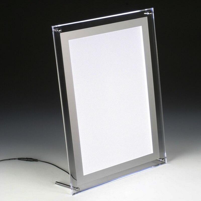 A4 sola cara mesa de luz LED Panel, illumianted acrílico y foto ...