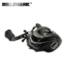 SEASHARK New  10BB Ball Bearings Left/Right Hand High Speed Reels 6.3:1 grey Bait Casting Carp Fishing Reel Baitcasting