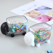 1pcs Creative Mini Plastic Cotton Swab Storage Box Cute Sheep Dust-proof Cosmetic Cosmetic Storage Box Family Desktop organizer(China)