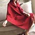 Марка Кашемир Дизайн Длинный Шарф Печати Животное Собака Красный Теплая Зима Шаль Для Женщин Пашмины Шаль, Шарф