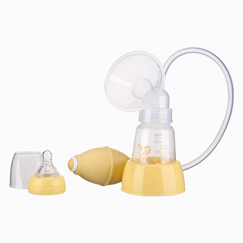 Silicone Manual Breast Pump with Bottle Maternal Breast Milk Extractor Massage Breast Pump Suction Large Milking Device BPA free