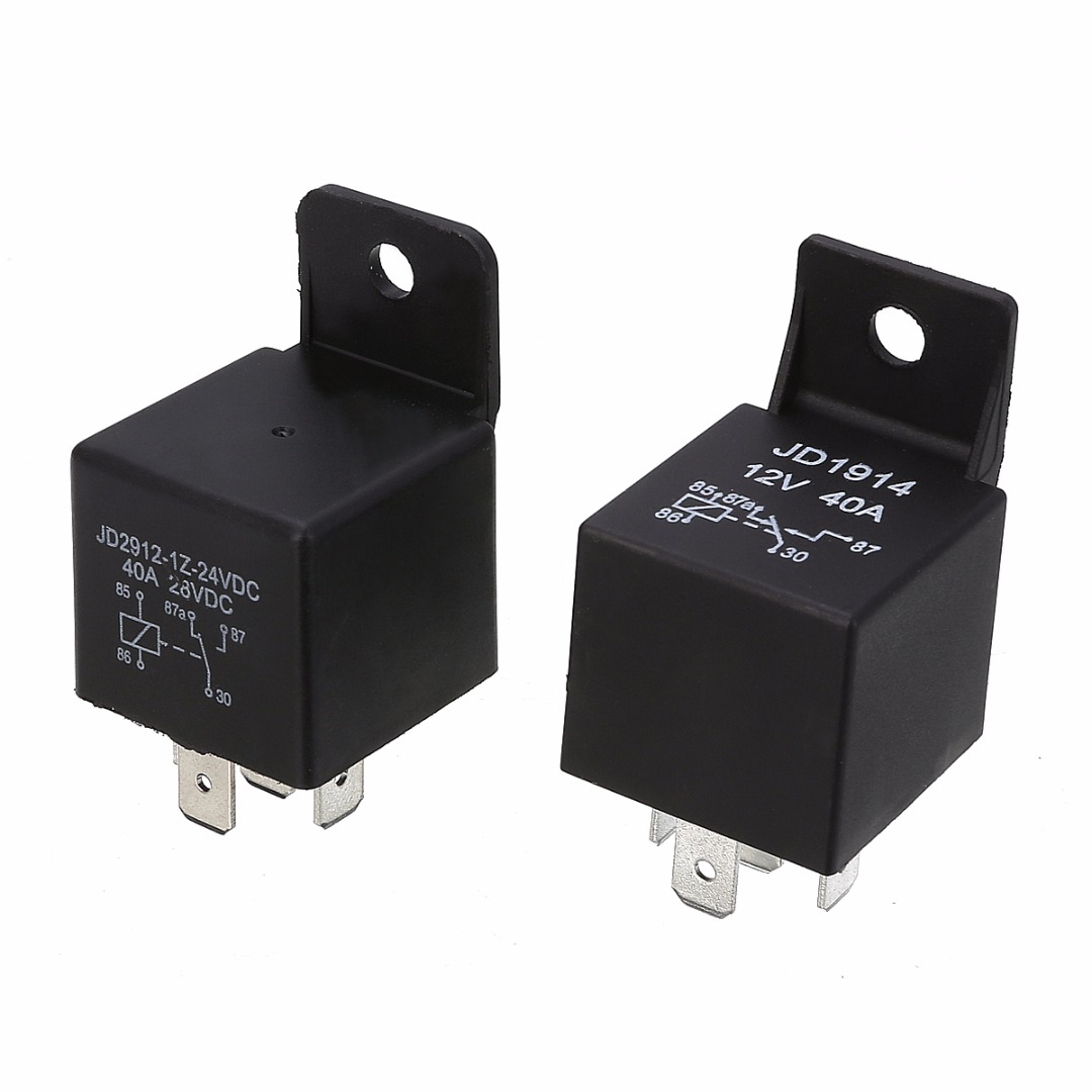 5 Pin 40A Waterproof Car Relay Long Life Automotive Relays Mayitr Normally Open DC 12V/24V Relay for Head Light Air Conditioner 2 sets automotive relays waterproof socket waterproof plugging relay socket 12v
