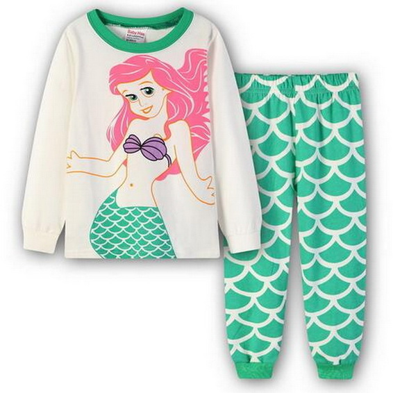 374c7b0d8b A%A-205 Autumn Spring Warm Baby Kids Girls Long Sleeve Sleepwear Nightwear  Pyjamas