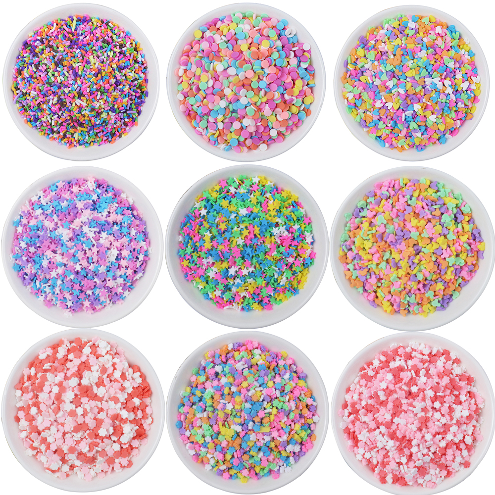20g Fake Sprinkles For Slime Accessories Clay Filler DIY Fluffy Slime Supplies Chocolate Cake Dessert Mud Toys