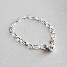HFYK 925 Sterling Silver Bracelet 2019 Chain Round Circles Bracelets For Women pulseras plata de ley mujer bracelet femme