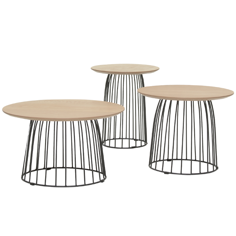 Us 119 99 Nordic Wrought Iron Coffee Table Round Solid Wood Modern Minimalist Small Sofa Side Creative Tea In Tables From Furniture On