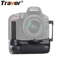 Travor Vertical Camera Battery Grip Holder For Nikon DSLR D5500 D5600 Camera Handle Work With EN EL14A Battery