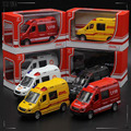 SOUND and FLASH Alloy Material High Simulation Sprinter Toy Car 1:36 Alloy Model Car Toy Police ambulance fire courier car 1066