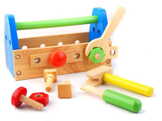 Educational Toys For 4 Years : Hot sale free shipping baby educational wooden toy tool box for