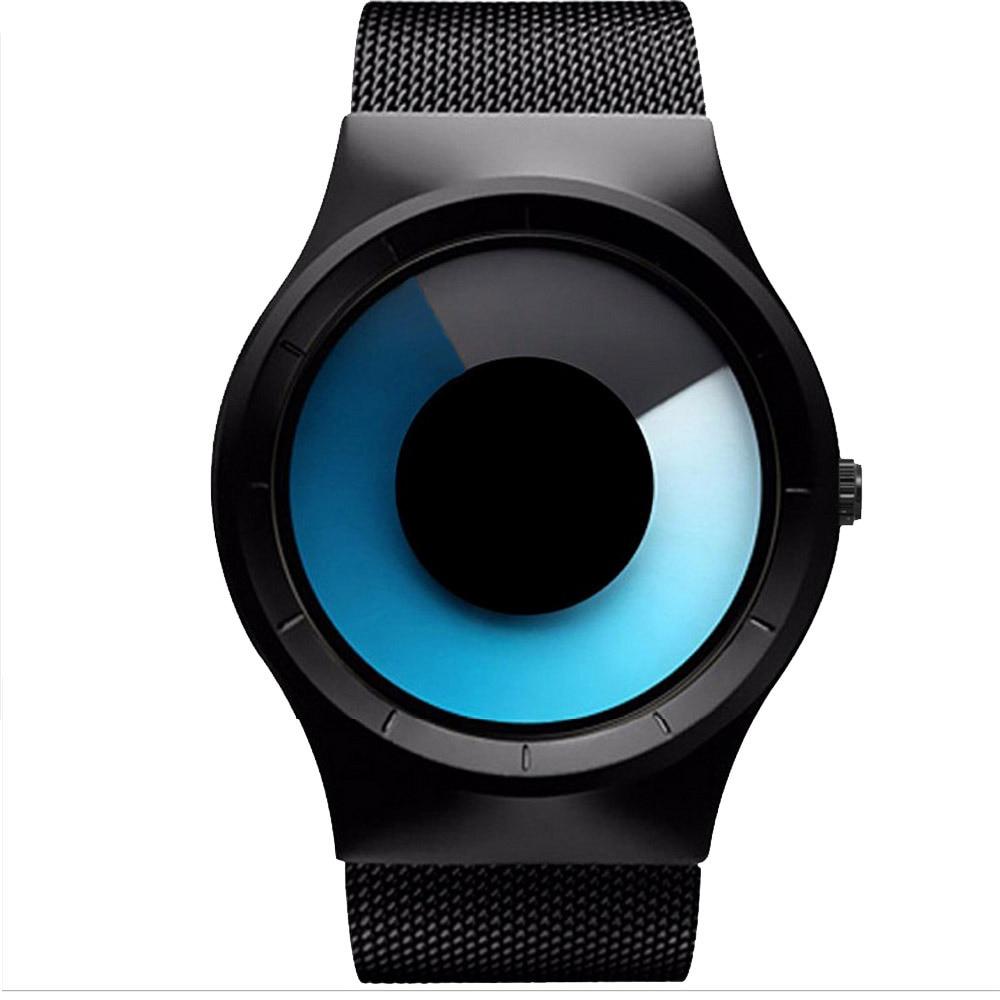 Quartz Watches Men Luxury Brand Casual Stainless steel Mesh Band Unisex Watch Clock Male female Gentleman gift Relogio Masculino