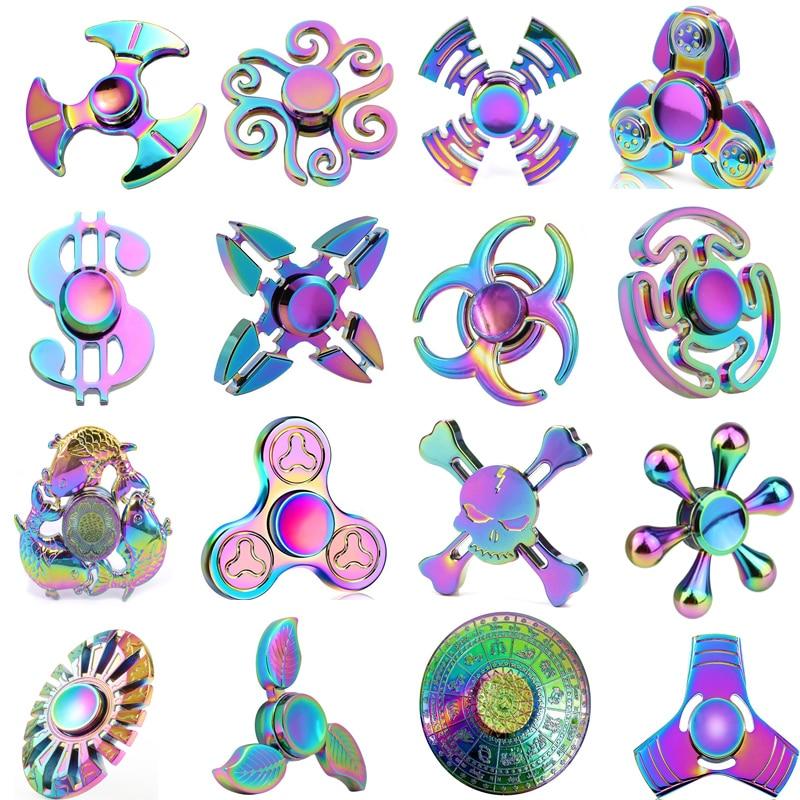 Colorful fidget spinner leaf horn fish dollar butterfly for Fish fidget spinner