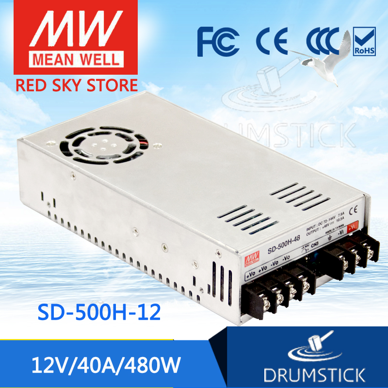 цена на hot-selling MEAN WELL SD-500H-12 12V 40A meanwell SD-500 12V 480W Single Output DC-DC Converter [Real6]