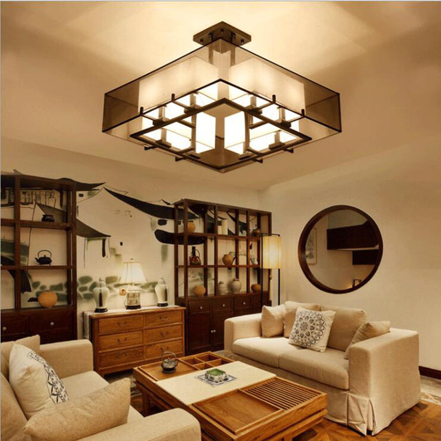 cinese plafoniera classica illuminazione interna led casa