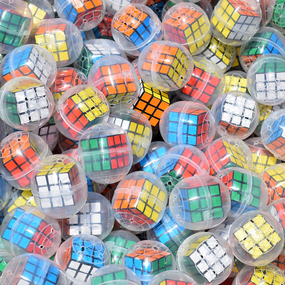2pcs/lot Novelty Funny 3CM Relaxing Toy Cube Surprise Egg Capsule Egg Ball Model Puppets Toy Kids Toys For Children