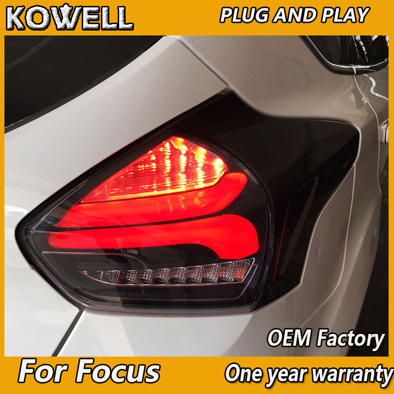 Kowell Car Styling For Ford Focus 2 Taillights 2017 2016 2018 Led Tail Lamp Rear Trunk Cover With Dynamic Turn Signal