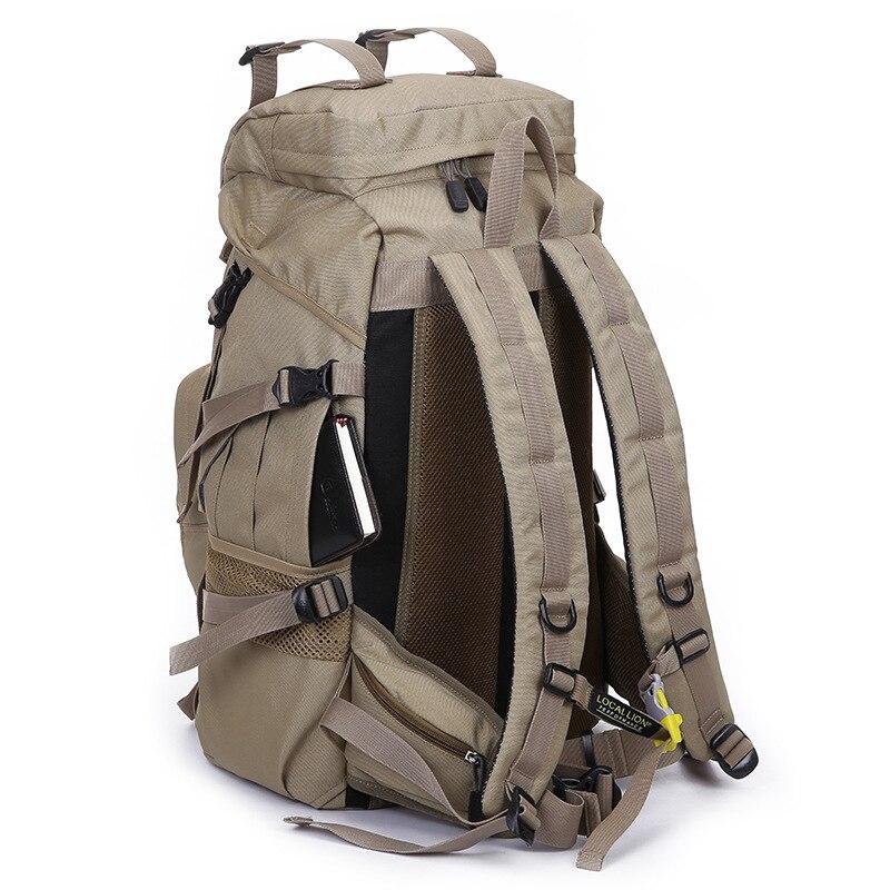 Professionla Outdoor Backpack Waterproof Nylon 45L Large Capacity Mountaineering Camping Hiking Rucksack Travel Bags 3