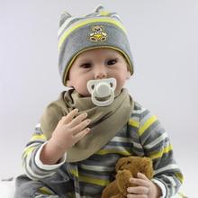 2016 New Arrival 22inch/ 55cm Handmade Reborn Baby Doll Handmade Soft Bady Silicone Lifelike Cool Boy Baby NPK Dolls