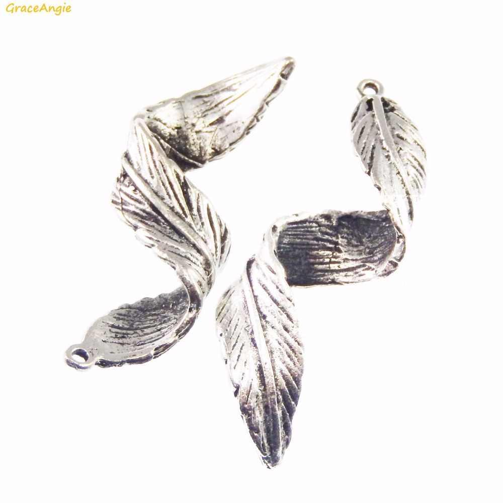 GraceAngie 10 قطعة خمر الشباك ليف سبيكة قلادة جالبة للحظ قلادة سوار النتائج DIY بها بنفسك صنع المجوهرات اكسسوارات 43*15*9 مللي متر