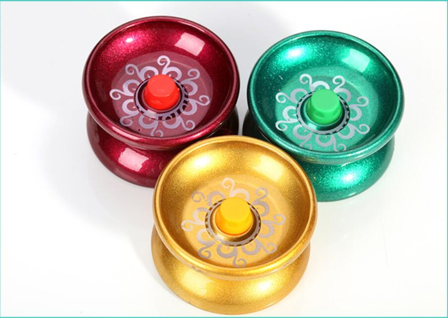 3pcs Alloy Cool Aluminum Design High Speed Professional Ball Bearing String Trick Yo-Yo Kids Magic Juggling Toy
