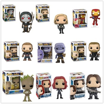 Funko POP Captain America Black Widow Winter Soldier Model Figure Collection Model Toy gifts Солдат