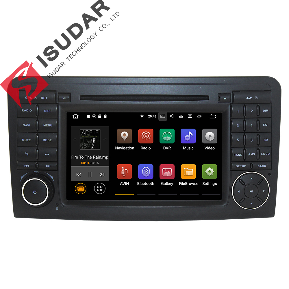 imágenes para Ventas al por mayor! 2 Din 7 Pulgadas Android 7.1.1 Coches Reproductor de DVD Para Mercedes/Benz ML/GL CLASS W164 ML350 ML500 GL320 Canbus Wifi GPS Radio