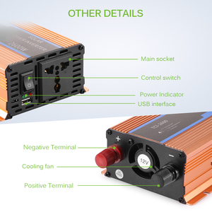 Image 5 - Onever Car inverter 2600 W DC 12 V to AC 220 V Power Inverter Charger Converter Sturdy and Durable Vehicle Power Supply Switch