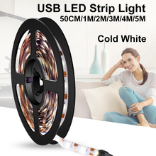 USB Led Strip Lamp SMD 2835 DC 5V Flexible Led Neon Tape Ribbon 50CM 1M 2M 3M 4M 5M Fita Led Light Strip TV Background Lighting 12v led strip light waterproof led tape lamp 1m 5m 10m 2835 smd flexible led neon strip led sign board tube rope string lights