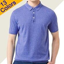 13 色夏ポロシャツ男性セーター品質コーマコットンポロ男性 Tシャツトッププルオーバー大プラスサイズ 4XL muls ブランド