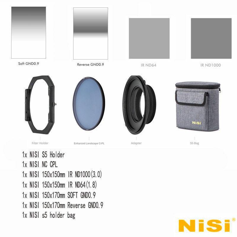 NiSi S5 Kit 150mm Porte-Filtre Avec Renforcée Paysage NC CPL + Filtres Kit Pour SLR Camera Lens