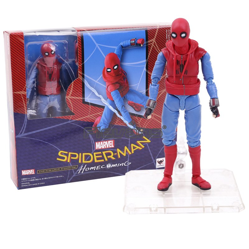 SHF S.H.Figuarts Spider Man Homecoming Spiderman Home Made Suit Ver. PVC Action Figure Toy