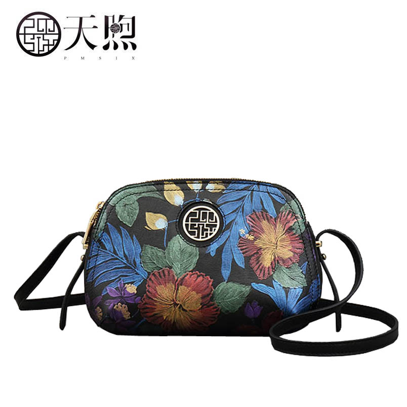 Vintage print crossbody bag female 2019 new temperament simple leather fashion ladies shoulder bagVintage print crossbody bag female 2019 new temperament simple leather fashion ladies shoulder bag