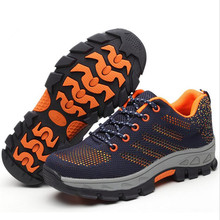 Winter new breathable protective boots outdoor couple shoes anti-smashing anti-piercing men work