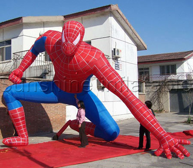 Amazing cool outdoor giant inflatable spiderman for advertising