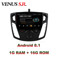 VenusSR Android 8.1 2.5D car dvd For Ford Focus Radio 2012 2017 multimedia GPS Radio stereo gps navigation
