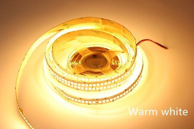 1m 2m 3m 4m 5 m/partia 10mm PCB 2835 SMD 1200 taśma LED DC12V ip20 niewodoodporny elastyczne światło 240 diod/m, biały ciepły biały