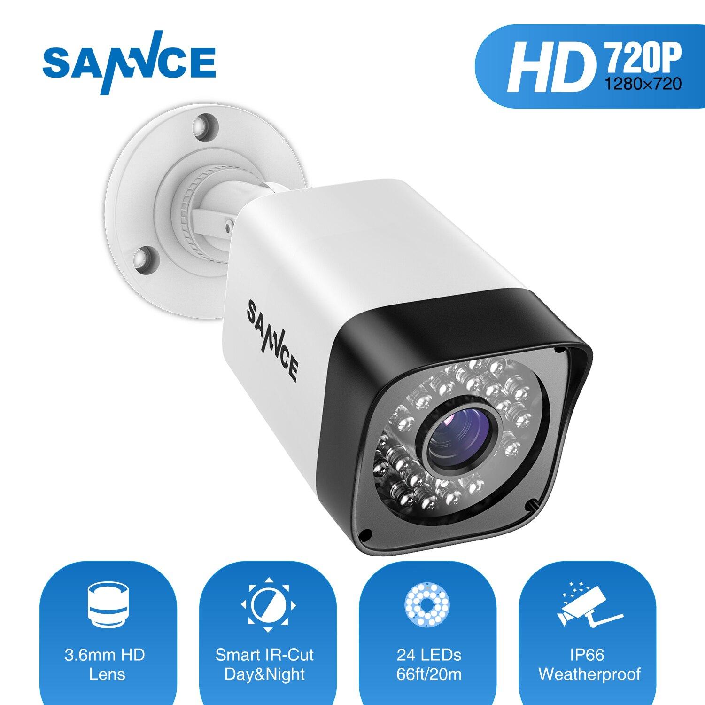 SANNCE TVI 720P 1200TVL Bullet CCTV Camera 1280*720 1.0MP Waterproof IR-Cut Night Vision Camera For Surveillance System Kit BW