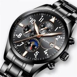 Szwajcaria automatyczne zegarek mechaniczny mężczyźni luksusowa marka męskie zegarki Sapphire zegar wodoodporny 50 M relogio masculino 2019 nowy