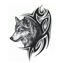 Men Women Wolf Head Waterproof Temporary Tattoo Removable 1PCS Fashion Body Arm Leg Art Sticker