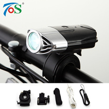 USB Rechargeable Bike Front Light Bicycle Accessories Flashlight Lithium Battery High Power Cycling LED Head Light Waterproof