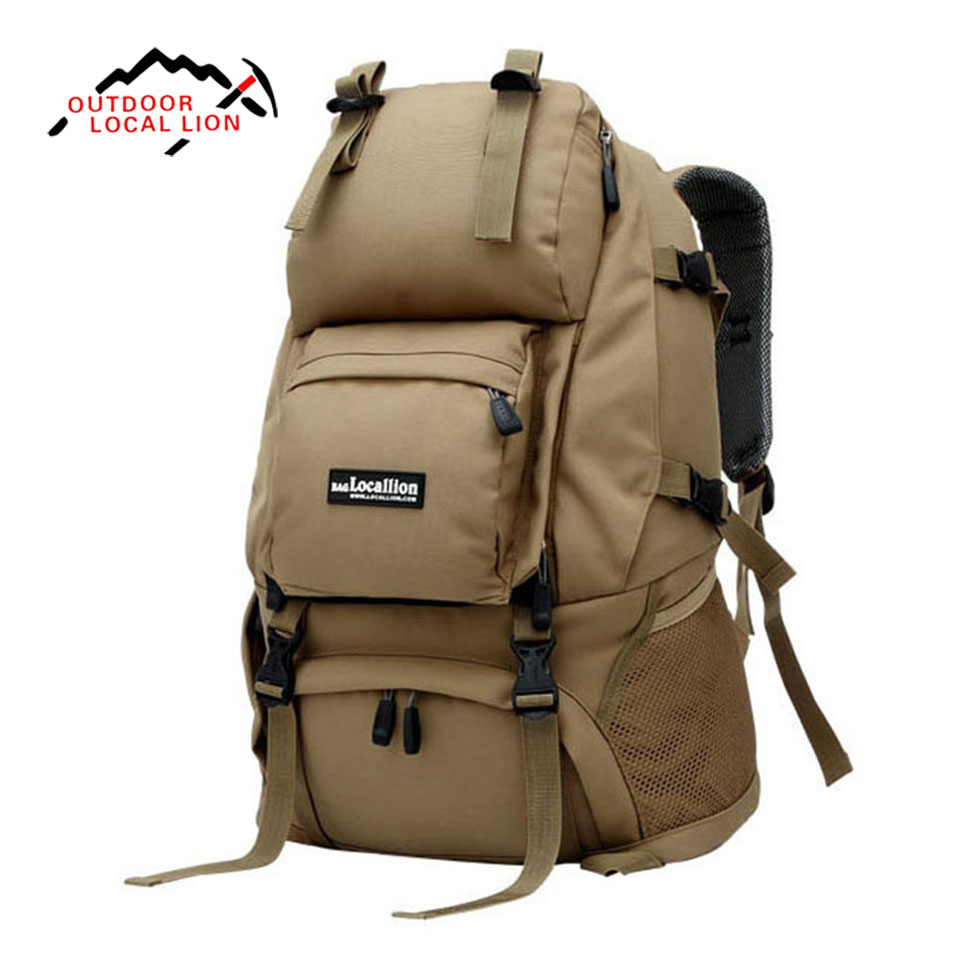 Outdoor Sport Bag LOCAL LION 40L Mountaineering Travel Shoulder Bag Student Backpack Men Women Hiking Traveling Backpack Tourism