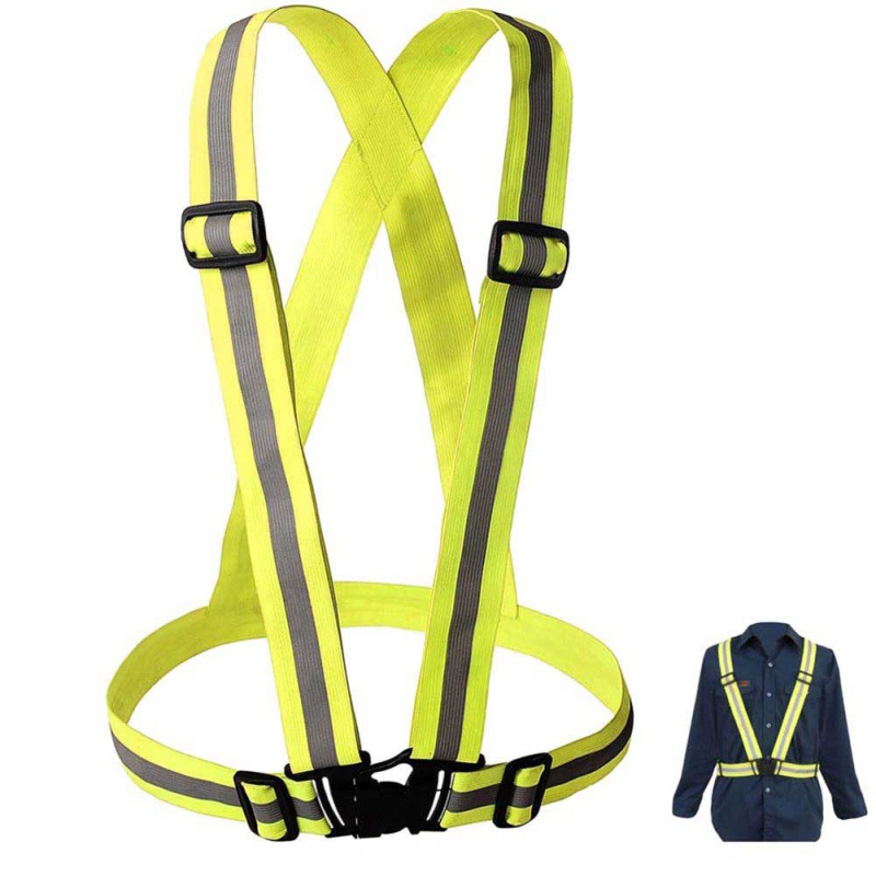 1PC Cycling Vest Adjustable Safety And Security High Visibility Reflective Vest Gear Stripe Jacket