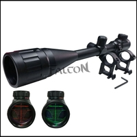 Tactical 6 24x50 AOE Red Green Illuminated Dot Riflescope Sight Scope 11mm Rail Mount Outdoor Airsoft Optical New Free Shipping
