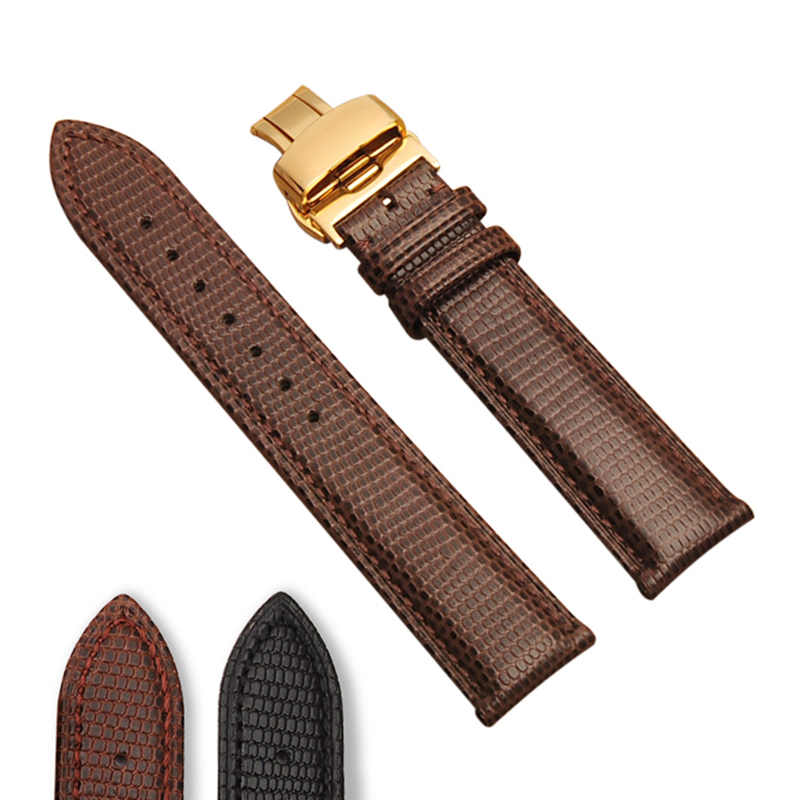 ФОТО New Fashion Leather Watchband for Oris Citizen for omega Tissot Watchbands Bilateral Press Clasps Accessories 16MM 18MM 20MM