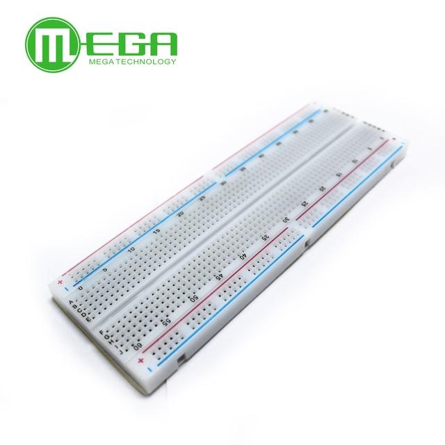 Megmoki 1 pièces MB-102 MB102 platine de prototypage 830 Sans soudure PCB Planche À Pain Test Développer bricolage