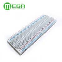 Megmoki 1pcs MB-102 MB102 Breadboard 830Point Solderless PCB Bread Board Test Develop DIY