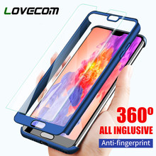 LOVECOM Luxury 360 Full Degree All Inclusive Cover Phone Case For Huawei Honor 6X 7X 8 9 Lite 10 P8 P9 P10 Plus Lite P20 Pro(China)