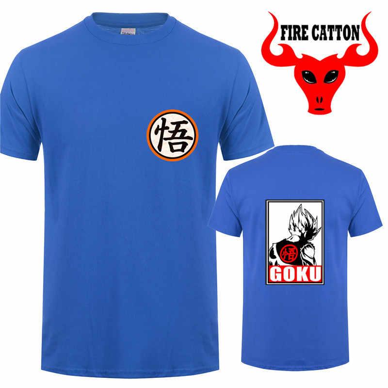 Dragon Ball Son Goku Kanji Wisdom футболки для мужчин DBZ Super Saiyan футболка Dragon Ball Z футболка для мальчиков Vegeta Harajuku брендовая одежда
