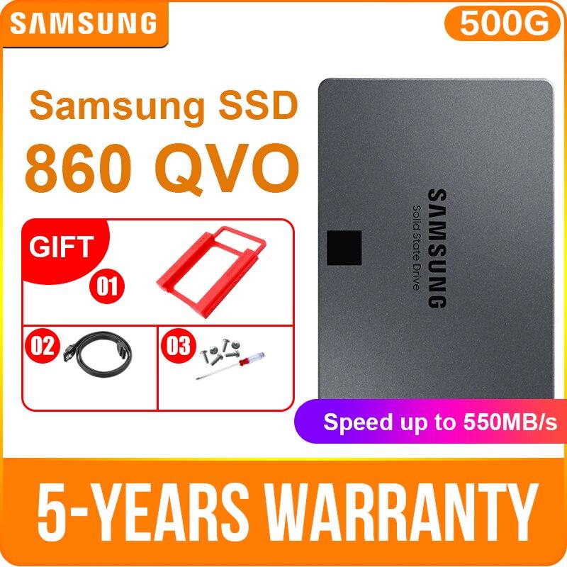 SAMSUNG SSD 860 QVO 1TB 2.5 Internal Solid State Disk SATA3 Hard Drive Laptop Desktop PC QLC internal hard drive