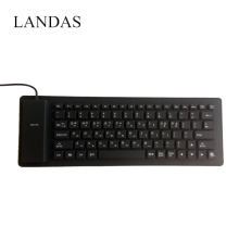 Landas Portable Silicone Korea Keyboard For Notebook Flexible Roll up Waterproof Soft USB Korean Keyboards for Desktop Laptop PC